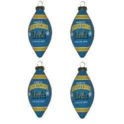 UCLA Bruins 4-piece Teardrop Ornament Set