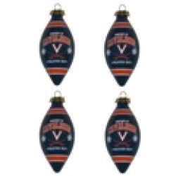 Virginia Cavaliers 4-piece Teardrop Ornament Set