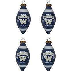 Washington Huskies 4-piece Teardrop Ornament Set