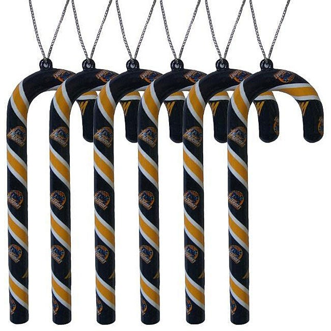 Golden State Warriors Candy Cane Ornaments (Set of 6)