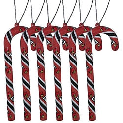 Louisville Cardinals Candy Cane Ornaments (Set of 6)