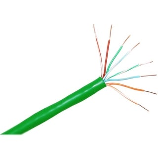 ClearLinks 1000FT Cat. 5E 350MHZ Stranded Green PVC UTP Bulk