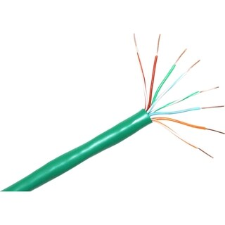 ClearLinks 1000FT Cat. 6 550MHZ Solid Green Bulk Cable