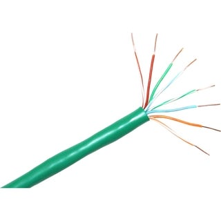 ClearLinks 1000FT Cat. 6 550MHZ Stranded Green Bulk Cable