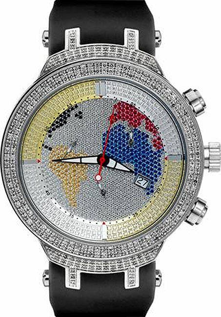 Joe Rodeo Men's Master World Map Diamond Watch