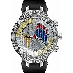 joe rodeo watches overstock com the best prices on designer mens joe rodeo men s master world map diamond watch