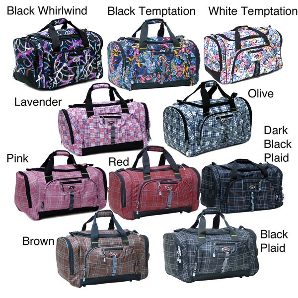 CalPak Hollywood Plaid 22 Inch Carry On Duffel Bag
