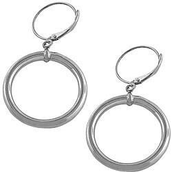 Fremada 14k White Gold Diamond-cut Teardrop Earrings
