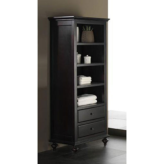 Avanity Merlot 24 Inch Linen Tower In Espresso Finish Free Shipping Today