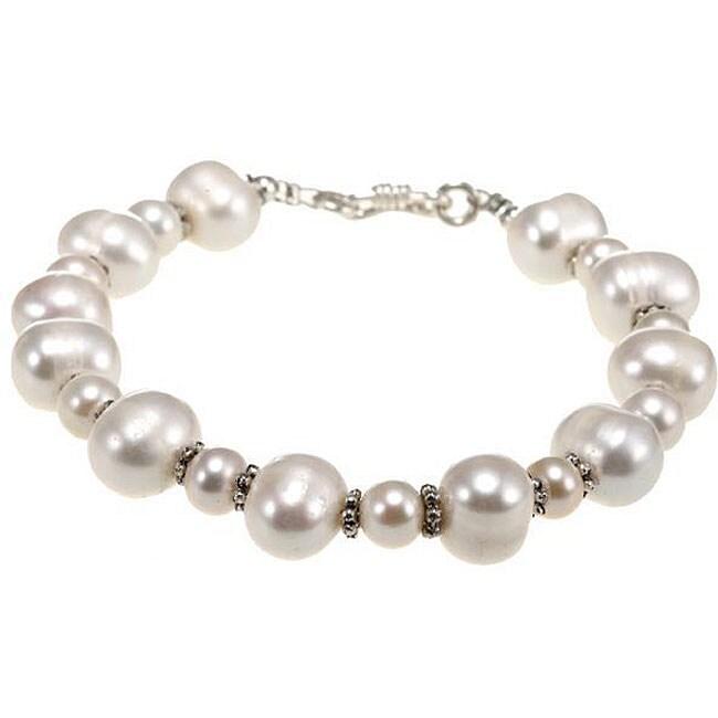 Silver White Pearl Bracelet (Thailand)