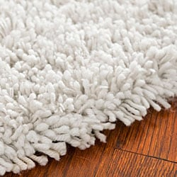 safavieh classic ultra handmade white shag rug 4u0027 round thumbnail