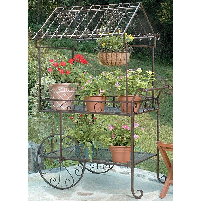 Deer Park Ironworks Large Flower Cart - Thumbnail 0