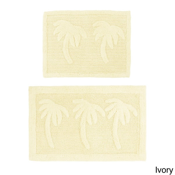 Celebration Palm Tree 2 Piece Bath Rug Set 21 X 34
