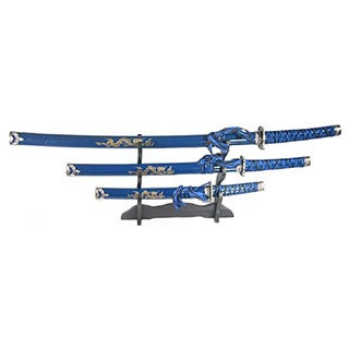 Japanese Samurai 3-piece Katana Sword Set