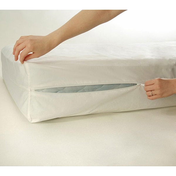 quot zippered full evolon bug encasement bed mattress allergy product protector mite dust detail