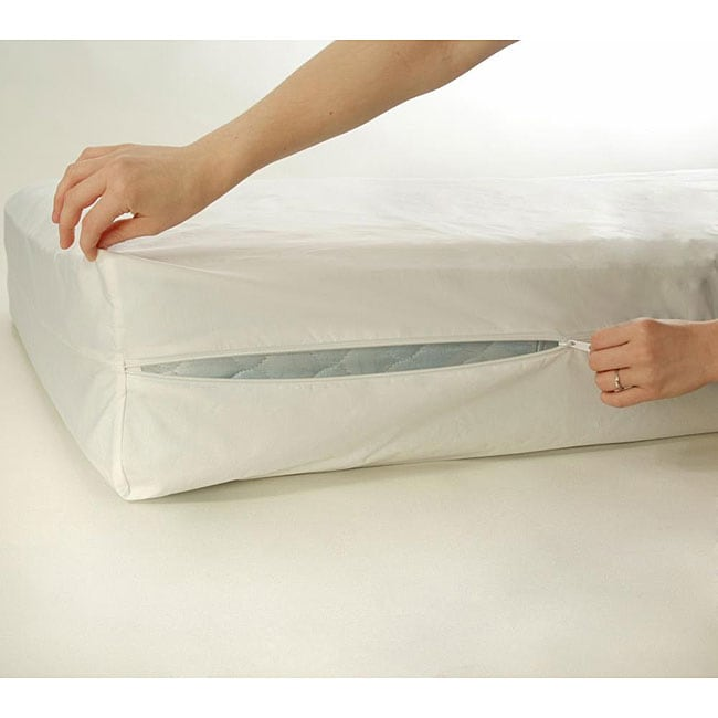 Bed bug and dust mite proof full size mattress protector for Dust mite and bed bug mattress covers