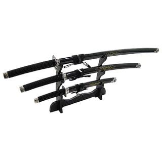 Japanese Samurai 3-piece Black Sword Set