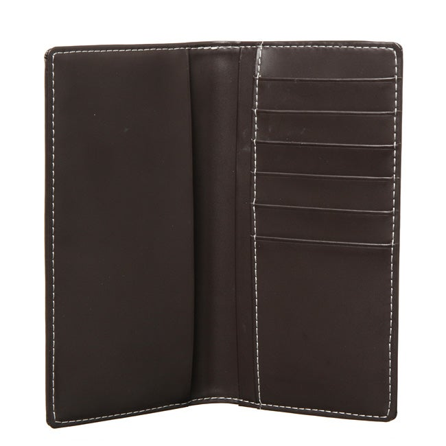 Royce Leather Chocolate Checkbook Wallet with Six Credit Card Pockets - Thumbnail 0