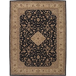 Nourison Hand-tufted Heritage Hall Black Wool Rug (12' x 15')