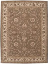 Nourison Hand-tufted Heriatge Hall Olive Wool Rug (12' x 15') - Thumbnail 1