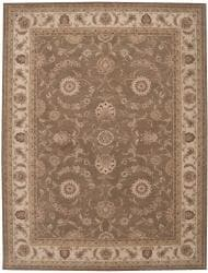 Nourison Hand-tufted Heriatge Hall Olive Wool Rug (12' x 15') - Thumbnail 2