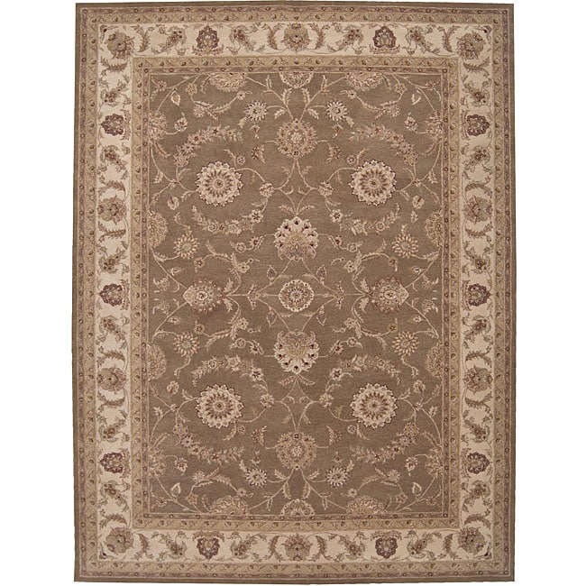 Nourison Hand-tufted Heriatge Hall Olive Wool Rug (12' x 15') - Thumbnail 0