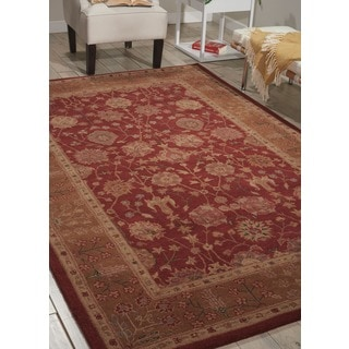 Nourison Hand-tufted Heritage Hall Burgundy Wool Rug (12' x 15')