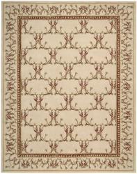Nourison Hand-tufted Lisette Ivory Wool Rug (8' x 10'6) - Thumbnail 1
