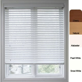 Arlo Blinds White Faux-wood 33.5-inch Customized Window Blinds