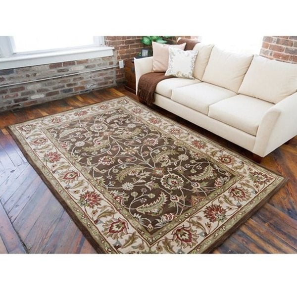 Hand-tufted Coliseum Wool Rug (10' x 14')