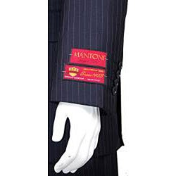 Men's Fine Pinstripe Two-button Wool Suit - Thumbnail 1