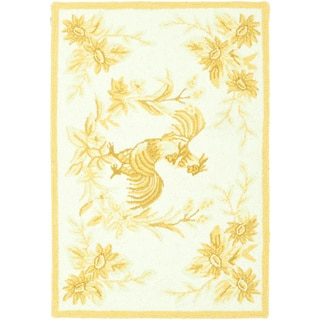 Safavieh Hand-hooked Rooster Gold Wool Rug (1'8 x 2'6)