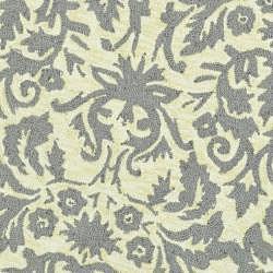 Safavieh Hand-hooked Damask Beige-Yellow/ Grey Wool Rug (4' Round) - Thumbnail 2