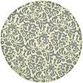 Safavieh Hand-hooked Damask Beige-Yellow/ Grey Wool Rug (4' Round)