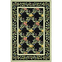 Safavieh Hand-hooked Garden Trellis Black Wool Rug - 2'9 x 4'9