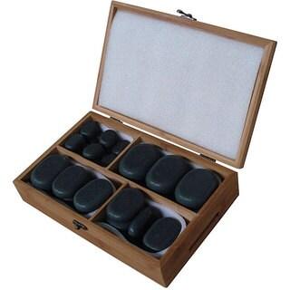 Basalt Lava 36-piece Hot Stone Massage Kit