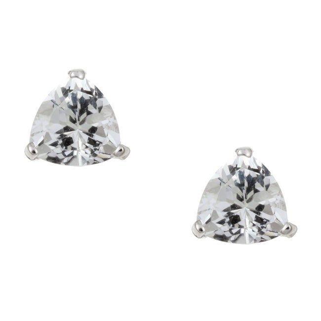 gems cut trillion carat total earrings size