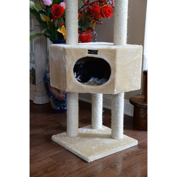 Attractive Armarkat Cat Tree Pet Furniture Condo   Free Shipping Today   Overstock.com    12374050