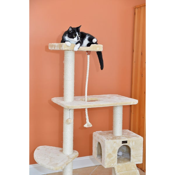 58 Inch Armarkat Cat Tree Pet Furniture Condo Scratcher   Free Shipping  Today   Overstock.com   12374051