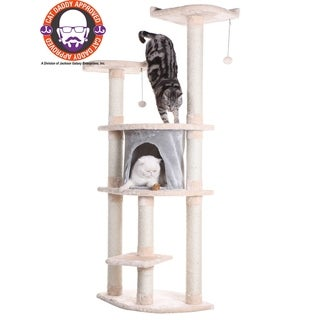 Armarkat Multi-Tier Cat Tree Scratcher With Condo and Perches