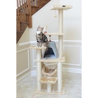Armarkat Cat Tree Multi-level Faux-Fur Scratcher With Condo