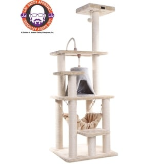 Armarkat Cat Tree Multi-level Faux-Fur Scratcher With Condo