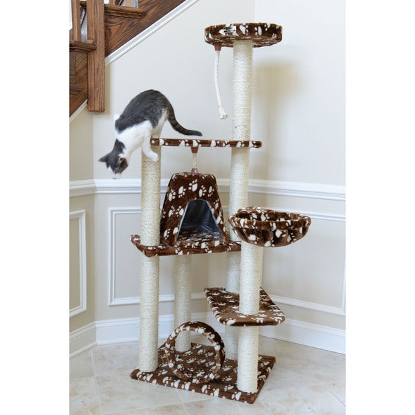 Armarkat Faux Fur Cat Tree Scratcher With Condo