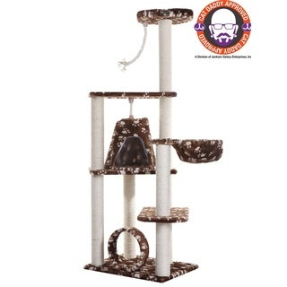 Armarkat Faux-Fur Cat Tree Scratcher With Condo
