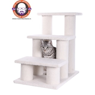 Armarkat White Pet Steps