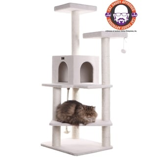 Armarkat Sturdy 57-inch Fleece Cat Treehouse