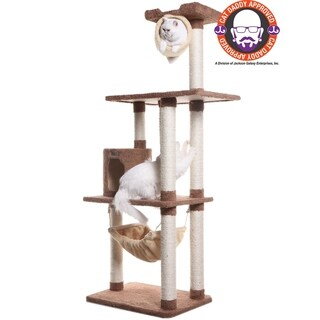 "Armarkat Premium 70"" Cat Tree w/Condo, Hammock, Tunnel, Rope Toy"