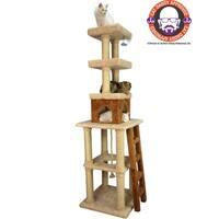 Armarkat Premium Cat Condo Scratching Cat Furniture - Tan