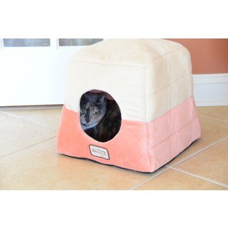 Armarkat 16-inch Multiple Use Orange and Beige Pet Bed