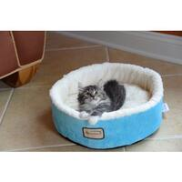 "Armarkat 14-inch Sky Blue and Ivory Cat Bed - Blue/White - 15""d x 5""h"